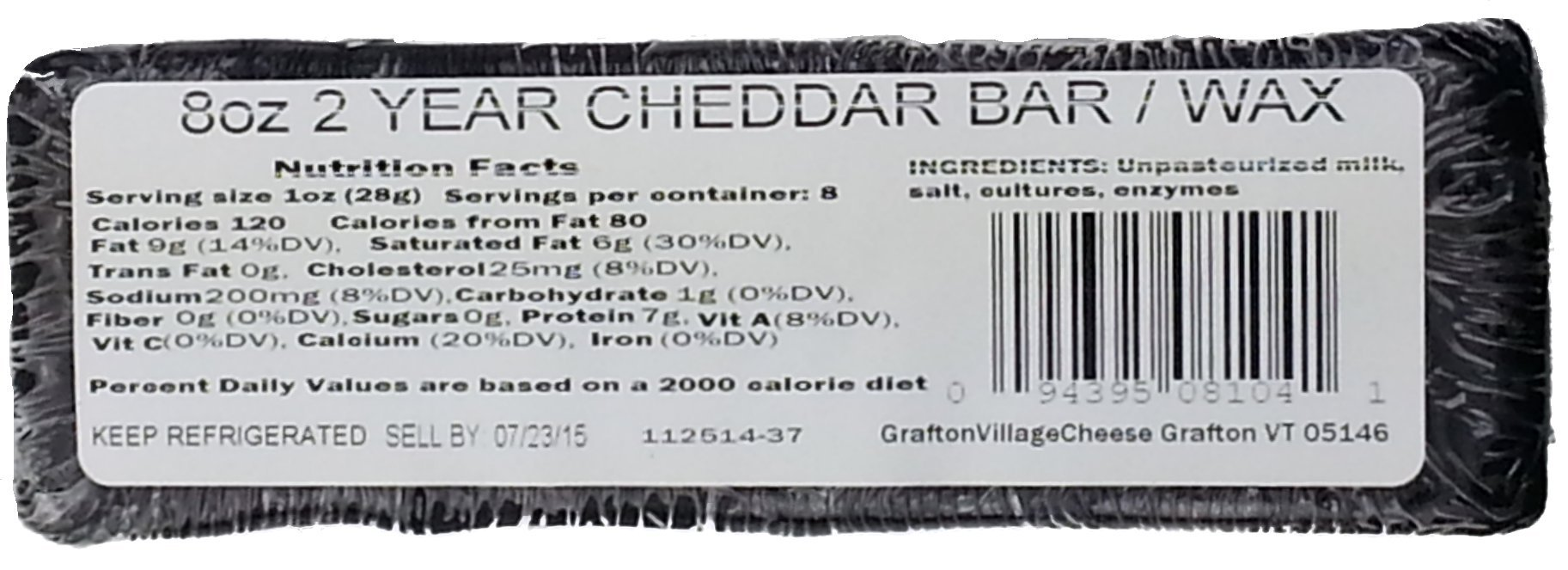 2 Year Aged Vermont Cheddar, 8 oz. (3 pack) by Grafton Village Cheese