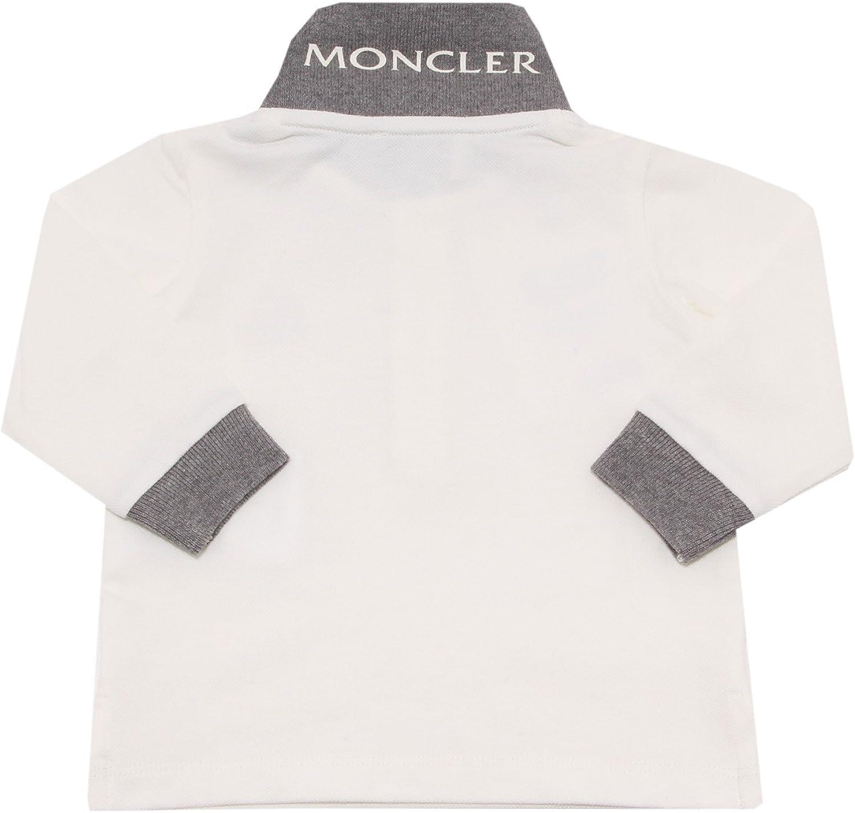 4209o Polo Niño Moncler manga larga Camisetas T-shirts Kids crema ...