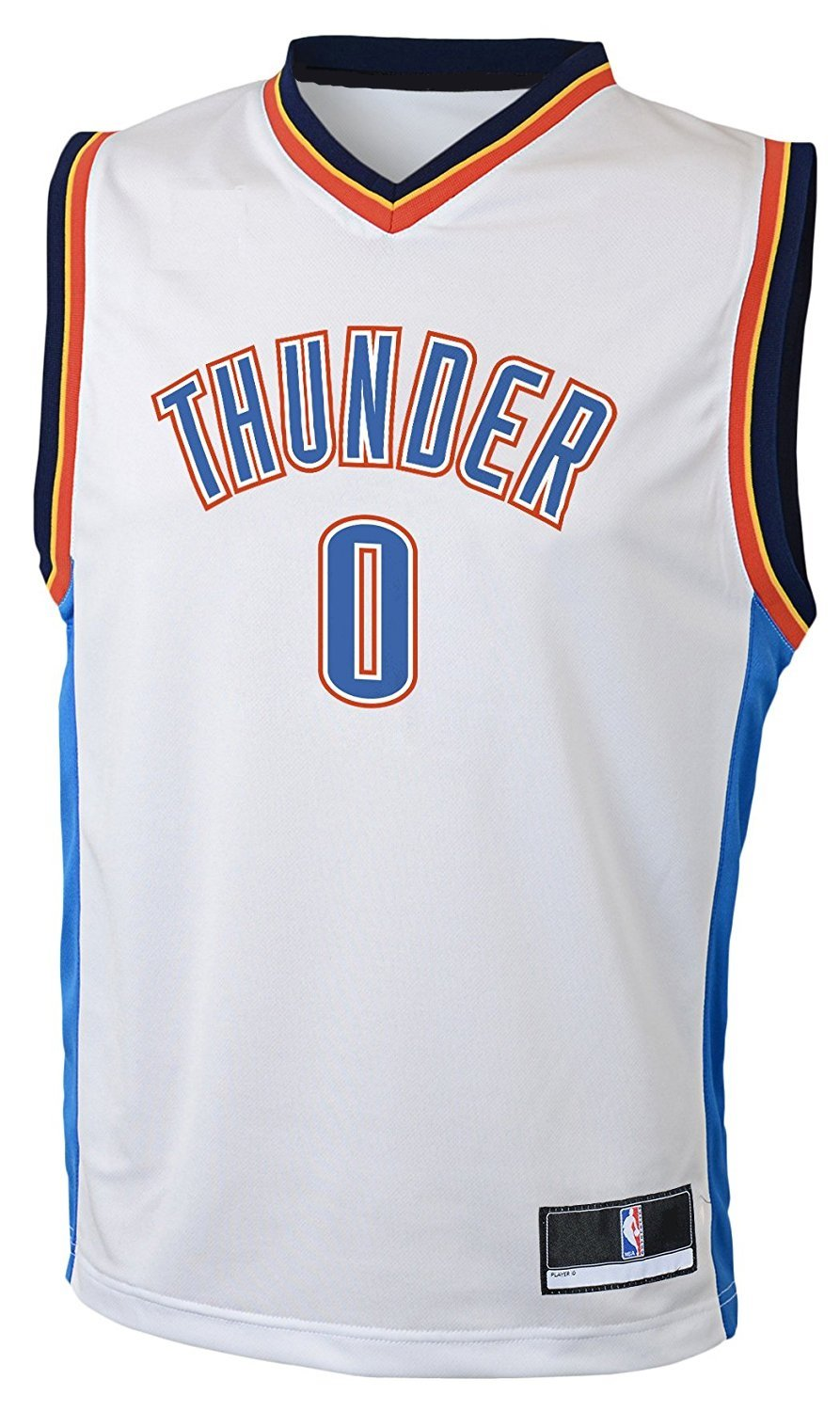 4b5a3bf86727 Amazon.com   Outerstuff Russell Westbrook Oklahoma City Thunder  0 NBA  Youth Home Jersey White   Sports   Outdoors