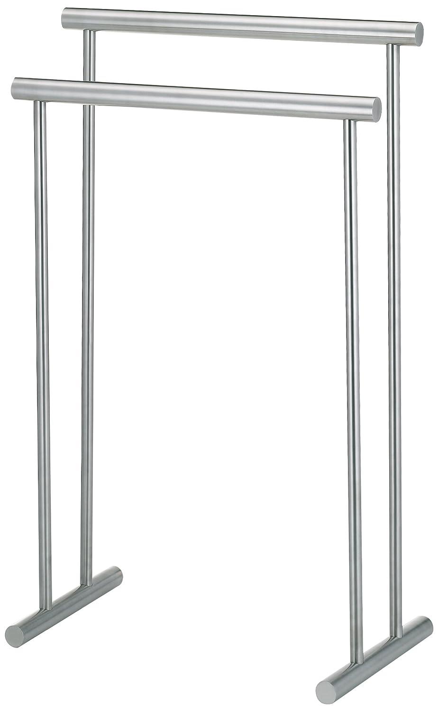 Kela 22690 porte-serviettes, acier inoxydable mat, longueur 56 cm, hauteur 85 cm, 'Priamo' 'Priamo' salle de bain qualité design zen contemporain moderne classique déco accessoires meuble