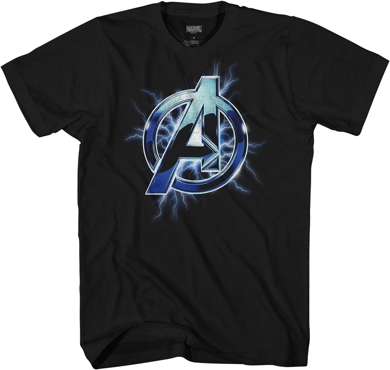 Marvel Avengers A Lightning Thor Logo Symbol Adult Graphic T-Shirt