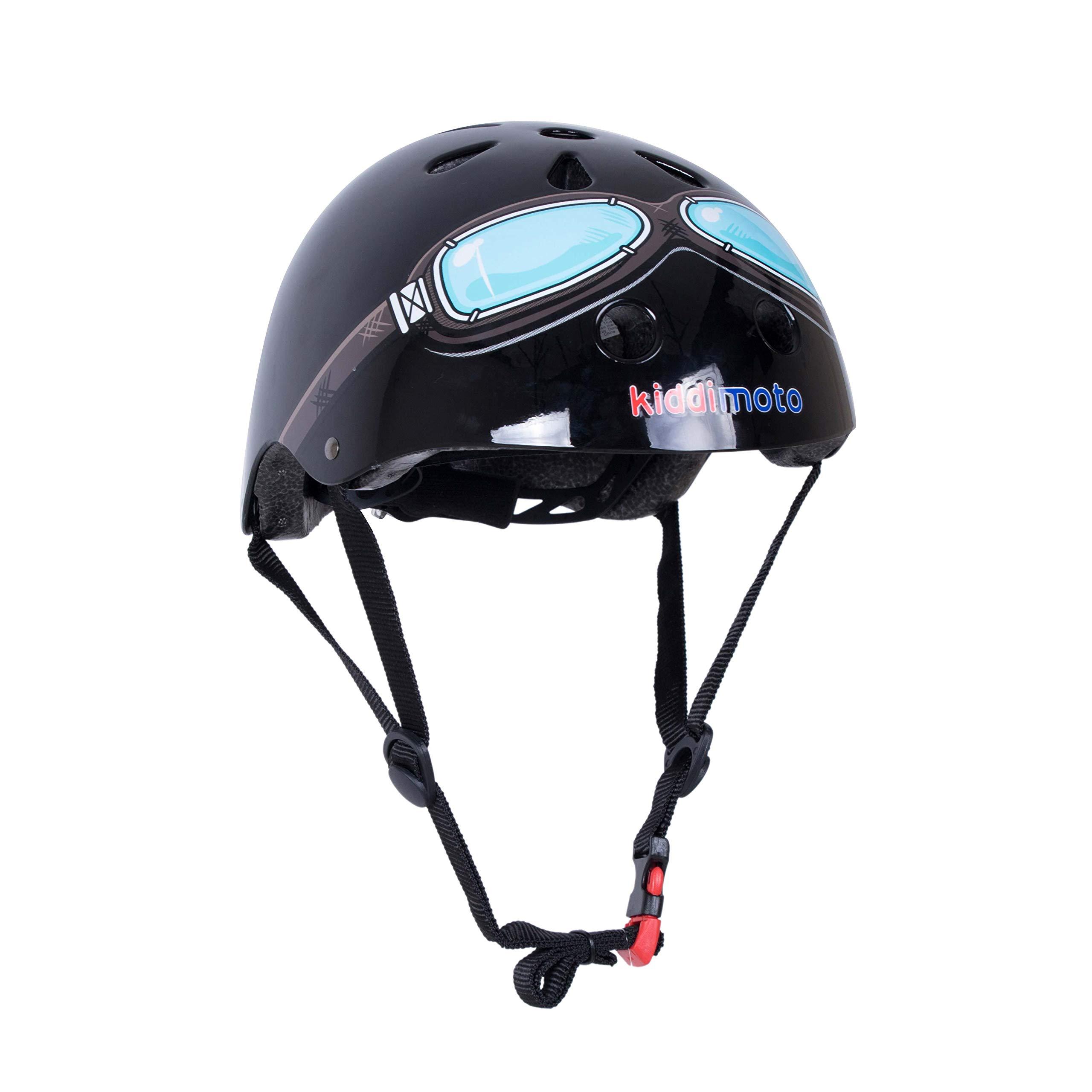Kiddimoto Kids Patterned Helmet (Black Goggle, Small)