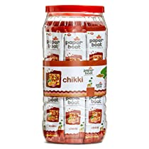 Paper Boat Chikki Jar, Peanut Bar, No Added Preservatives and Colours (50 Pieces)