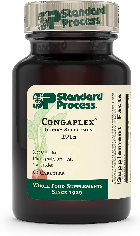 Standard Process - Congaplex - Source of Antioxidant Vitamin C, Supports Healthy Immune System Function, 900 IU Vitamin A, 6 mg Vitamin C, 80 mg Calcium, 15 mg Magnesium - 90 Capsules