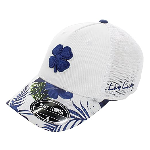 Black Clover Live Lucky Tropical Luck Adjustable Golf Cap Hat (  5 - White  6958eeddc487
