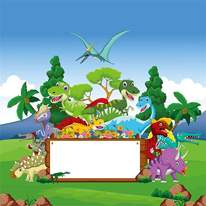 FHZON 10x7ft The Dinosaur Backdrop The Cretaceous Period Party Decoration Background for Photography Banner Wallpaper Photo Studio Booth Props LSFH658
