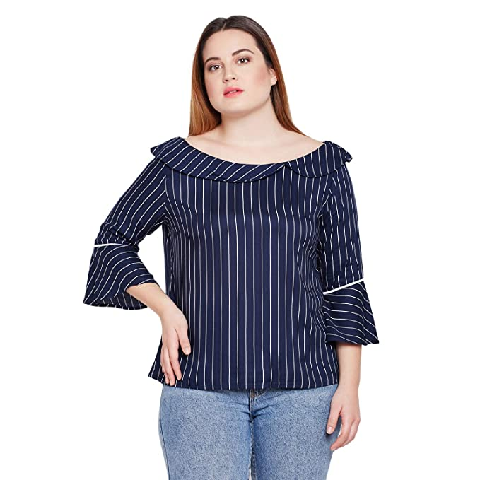 STYLE QUOTIENT by NOI Women Striped Plus Size Tops for Women Western ...