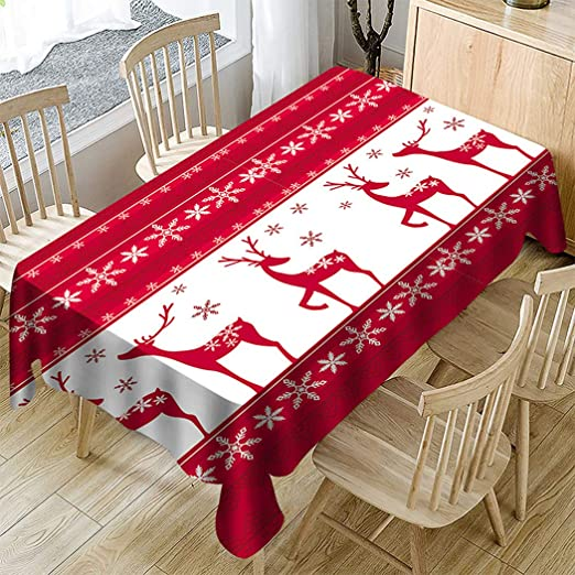 Raylans Mantel Navidad Rectangular de Mesa Impermeable Resistente ...