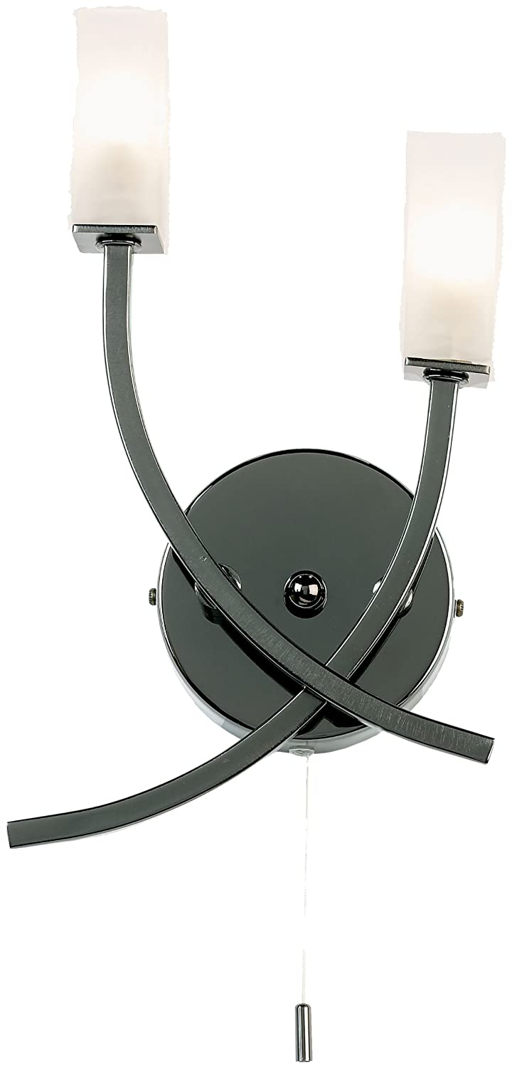 Black Chrome Wall Bracket With 2 Arms (g9 Lamp) Endon 146-2BC