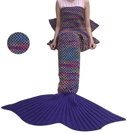 Cola de sirena coroler Chic manta Adorable sacos de dormir con patrones de escala para las