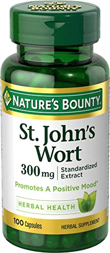 Nature s Bounty St. John s Wort Pills and Herbal Health Supplement, Promotes a Positive Mood, 300mg, 100 Capsules