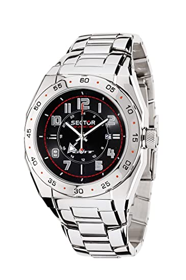Sector Race GMT R3253660025 - Reloj de Caballero de Cuarzo, Correa de Acero Inoxidable Color: Amazon.es: Relojes