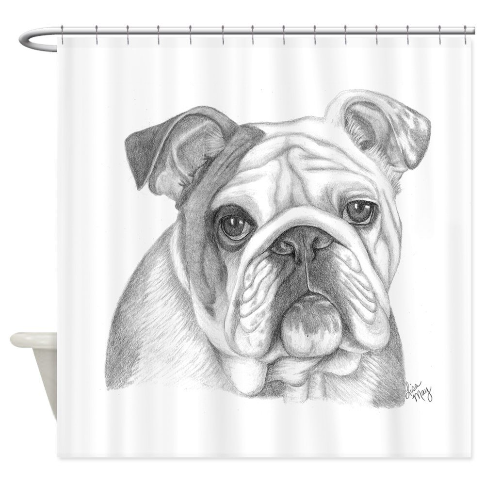 Amazon CafePress English Bulldog Decorative Fabric Shower Curtain 69x70 Home Kitchen