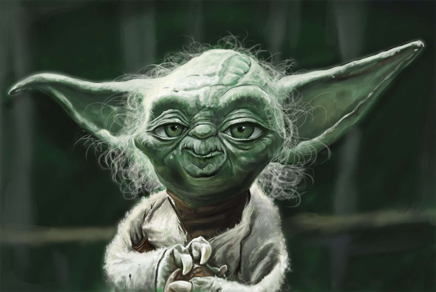 Star Wars Yoda ''Jedi Master'' Caricature Limited Edition (1 of 20) Giclee on Canvas Artwork: Signed, Numbered, Personalized Certificate of Authenticity, Ready to Hang, Home & Office Wall Decor, Gift