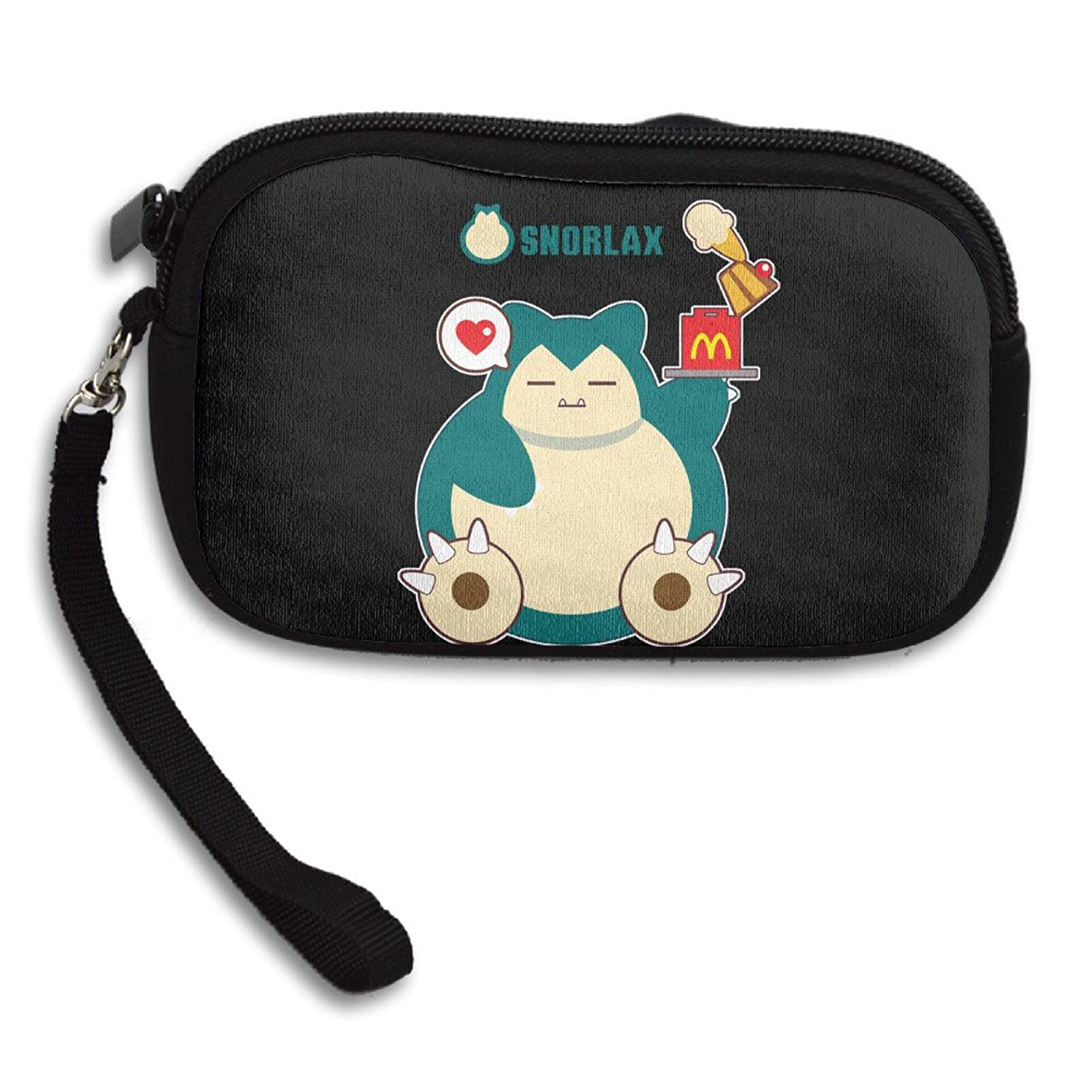 Hungry Snorlax Fancy Purse Credit Card Wallet With Zipper Closure