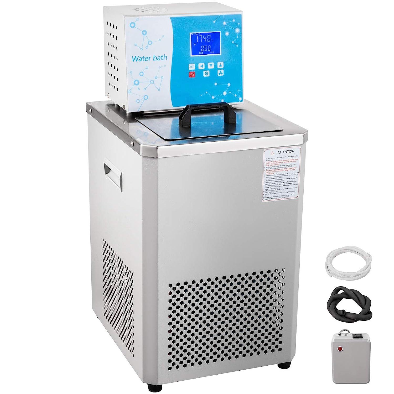 VEVOR Laboratory Chiller Circulator 6L Chiller Lab -20℃ Low Temperature Cooling Liquid Circulator Pump Chiller Lab Recirculating Chiller Water Bath Recirculating Water Cooling Chiller for Laboratory