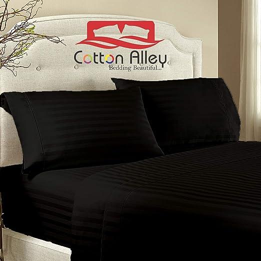 Cotton Alley - Juego de sábanas de algodón egipcio de 1000 hilos ...