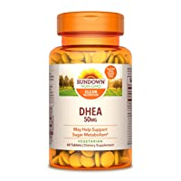 Sundown DHEA 50 mg, 60 Tablets (Pack of 3)(Packaging May Vary)