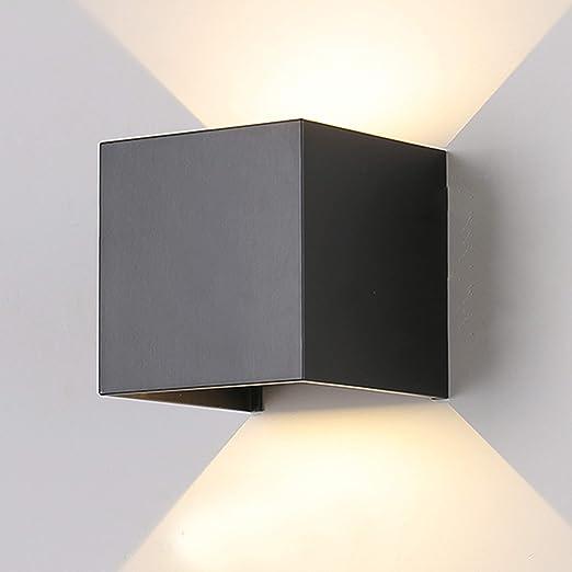 Tvfly Wall Light Indoor Outdoor Modern With Adjustable Beam Angle Design Outdoor Lights Ip65 Led Wall Lighting 3000 K Warm White Black 7 W Aluminium 7 W Amazon Co Uk Lighting