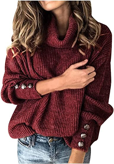Sylar Jersey Mujer Invierno Tallas Grandes Suéter de Punto ...
