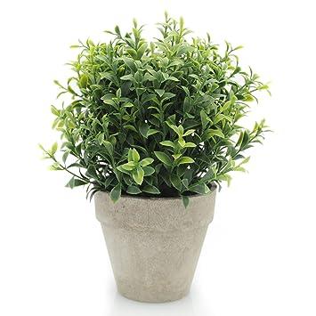 Velener Artificial Plants Mini Potted Grass Arrangements For Home Decor  (Green, Seven Layer