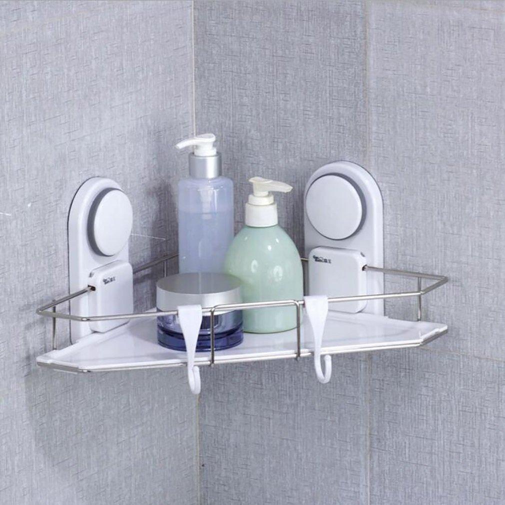 FeN Storage Shelf,Suction Cup Triangular Rack,Hotel Finishing Shelves,Bathroom Wall Mount Storage Holder
