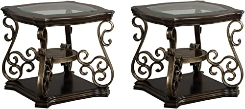 Deal of the week: WEVIVU Glass Top End Table
