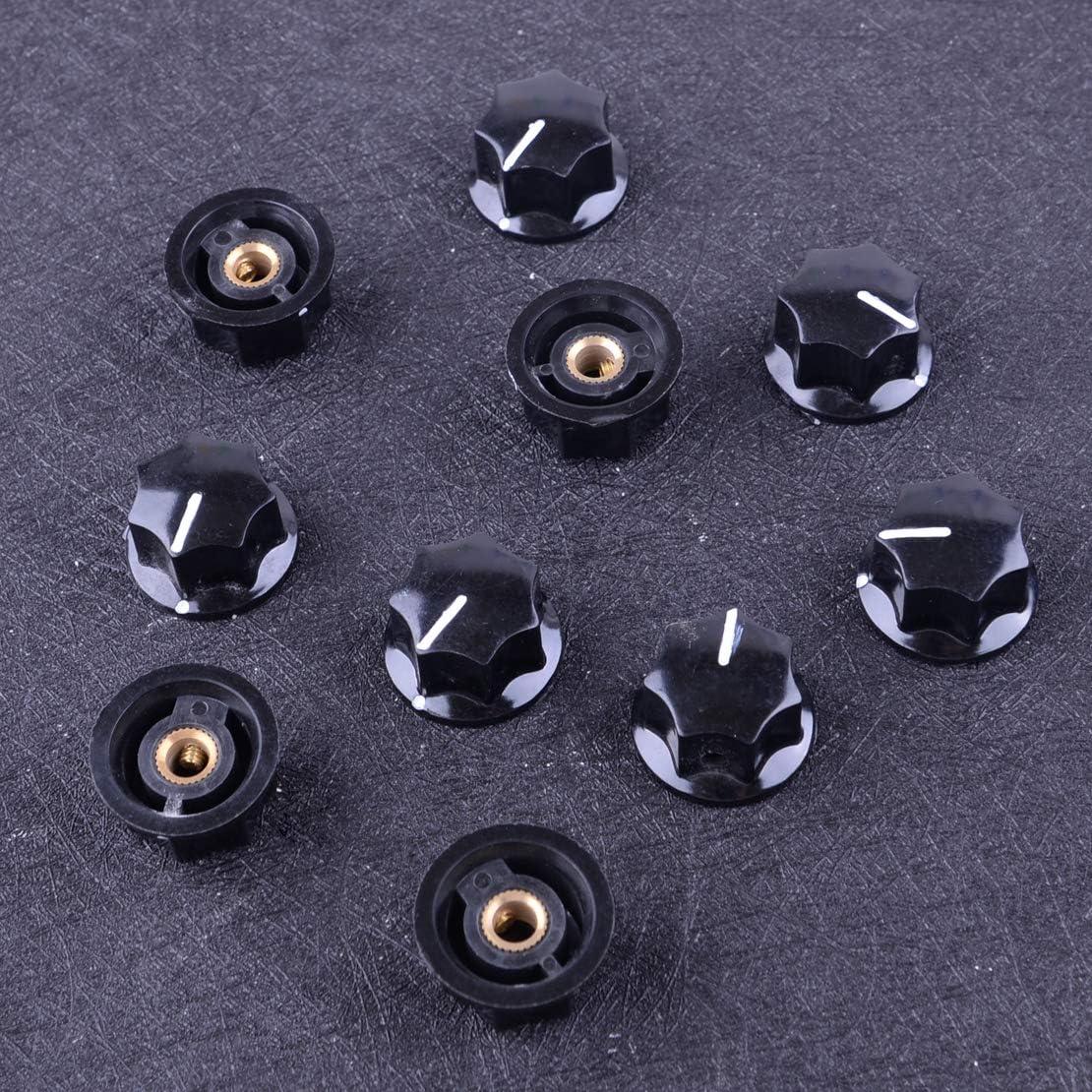LETAOSK 10pcs Bakelite Skirted Pedal Control Knob 27mmDx15mmH 6mm Shaft