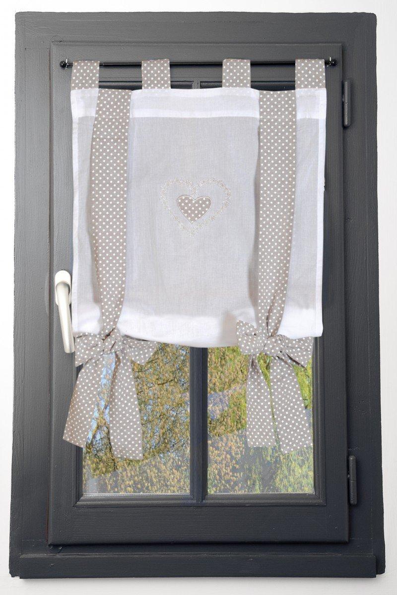 Coton Lovely Casa Verone Vitrage 60 x 140 cm RA51633001 Lin