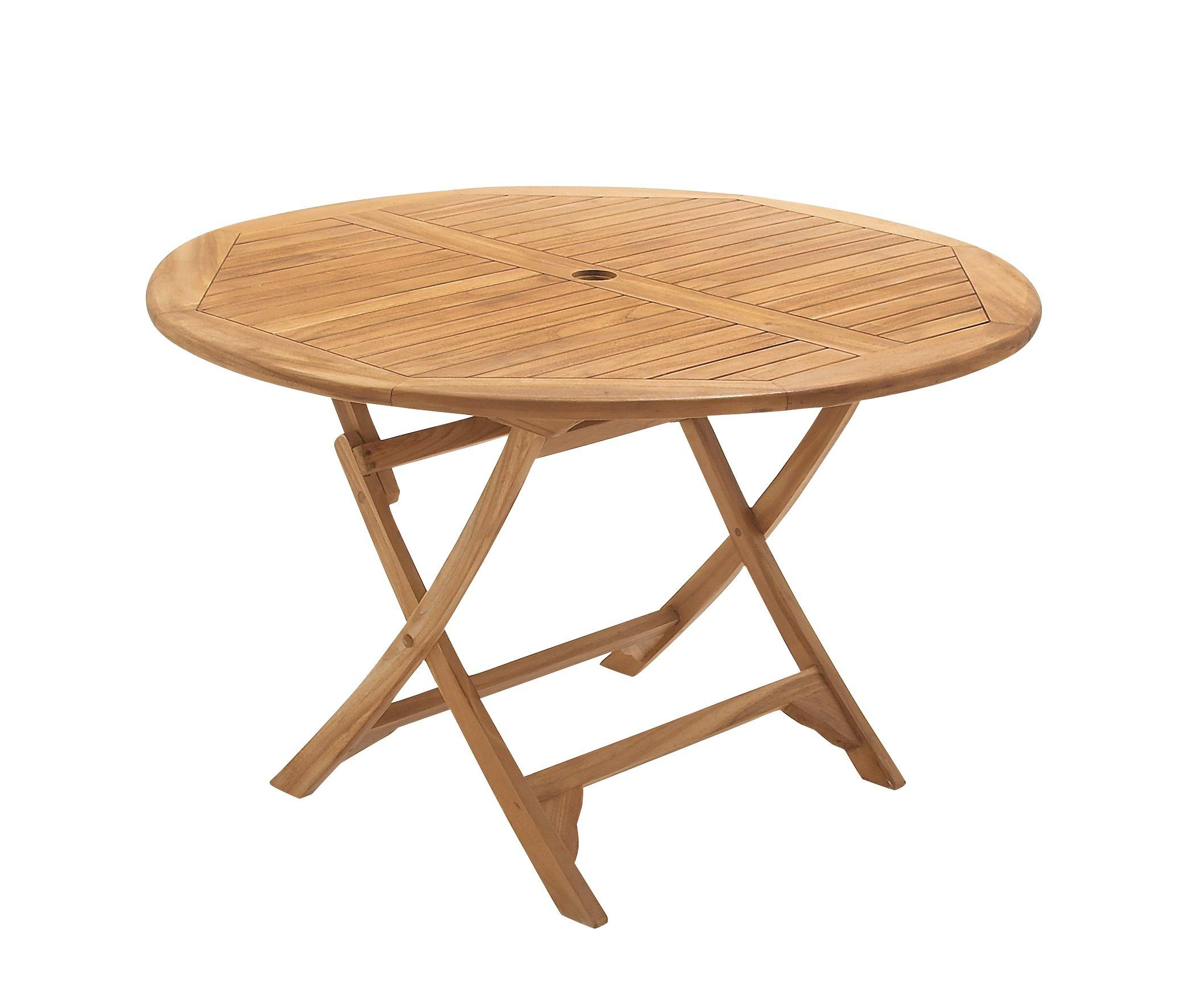 Deco 79 92452 Wood Teak Table, 47'' x 30''