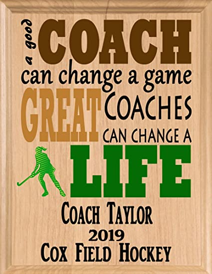 ... Amazon com Broad Bay Field Hockey Coach Gifts Personalized Coaches