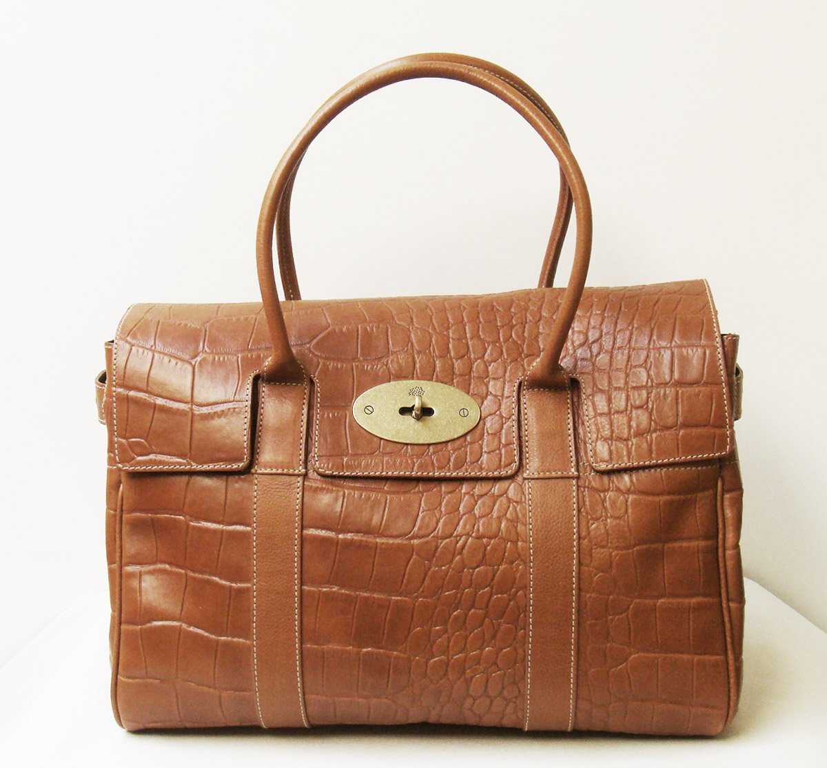 37a73873566 Amazon.com  Mulberry Bayswater Crocodile Effect Leather Satchel Tote Bag   Health   Personal Care