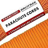 Brotree Paracorde 550 Corde Parachute 7 Brins en Nylon Corde de Survie Type III Spécification Militaire