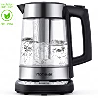 Homever 1.7-Liter 1500W BPA-Free Electric Cordless Glass Kettle