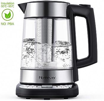 Homever 1.7-Liter 1500W BPA-Free Electric Cordless Glass Kettle
