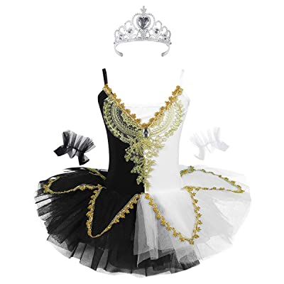 CHICTRY Kids Girls Ballerina Costume Professional Tutu Dance Ballet Dress Outfits: Clothing