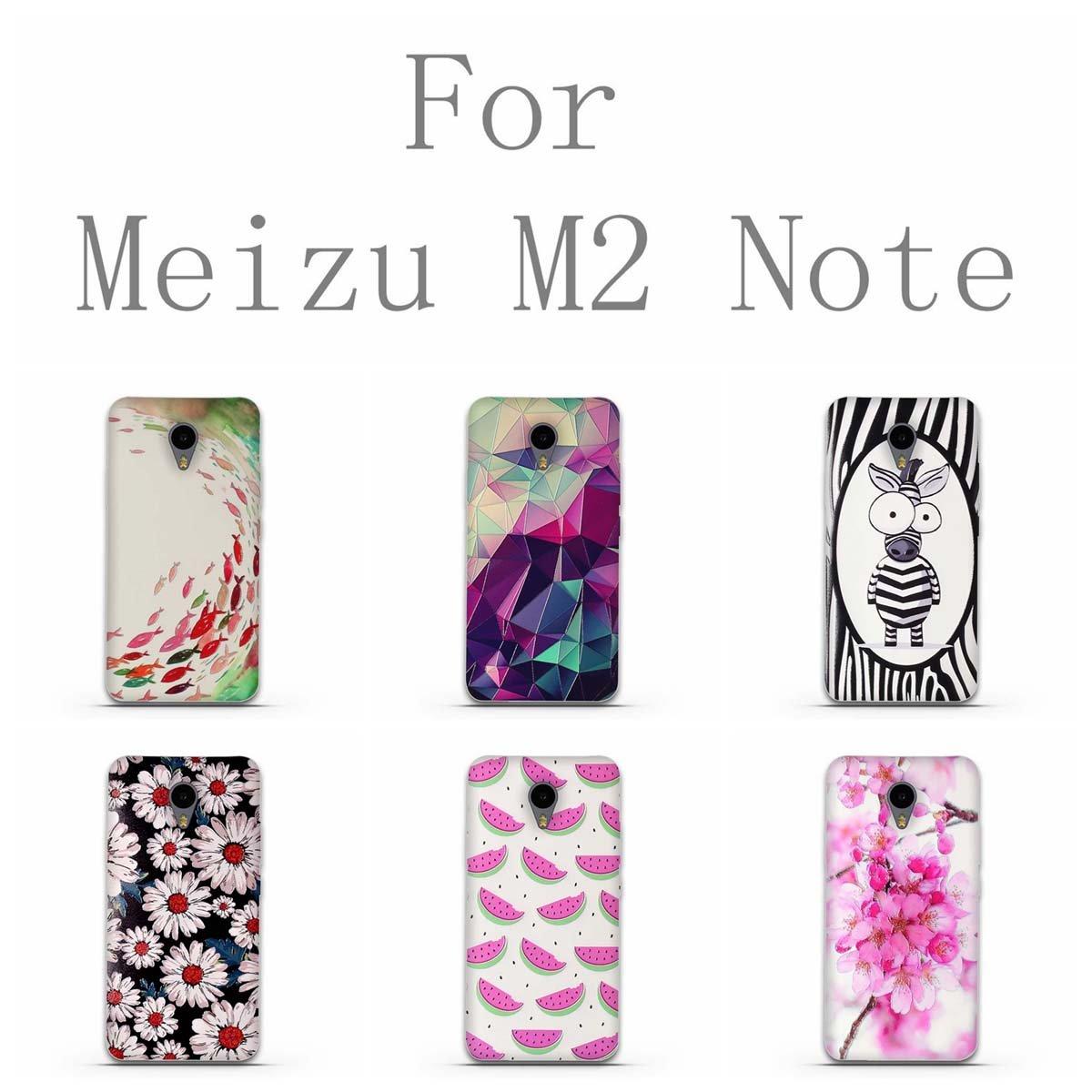 Funda Meizu M2 Note-Fubaoda-3D Realzar,Moda Patr/ón,Gel de Silicona TPU,Fina,Flexible,Resistente a los ara/ñazos en su Parte Trasera,Amortigua los Golpes,Funda Protectora Anti-Golpes para Meizu M2 Note