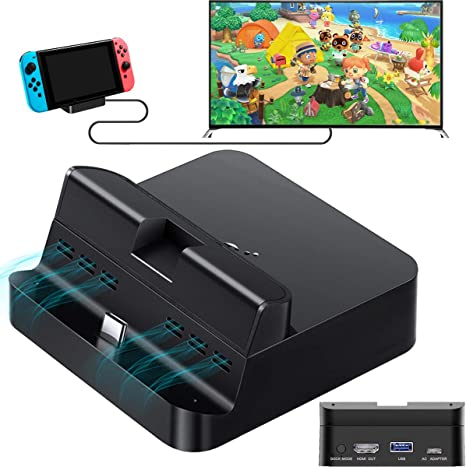 GulKit Pocket TV Dock for Nintendo Switch, PD Protocol Avoids Brick, Hyper Trans for 1080P/2K/4K Projection, Magnet Transform Design, Supported Phone or Tablet, Charging Dock with Air Outlet (Black): Amazon.es: Videojuegos