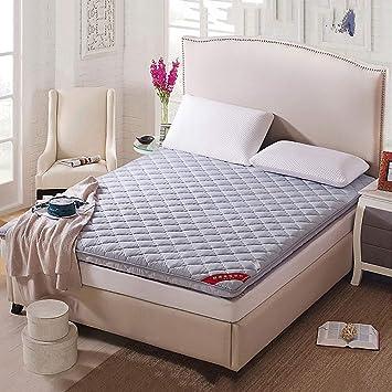 ASDFGH Plegable Colchón Tatami, Tradicional Suelo Japon Colchones de futon Ultra Soft Sleeping Pad, Primeros del colchón de Fibra Estudiante Dormitorio-Gris ...