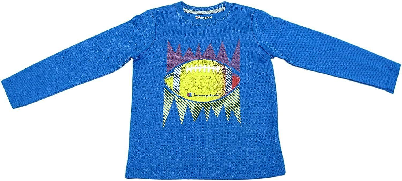 Champion Authentic Boys Football Long Sleeve Shirt Team Blue