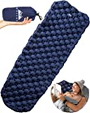 ChilaX Ultralight Air Sleeping Pad ? Inflatable Camping Mat for Backpacking Traveling and Hiking ? Super Comfortable Air Cells Design for Better Stability & Support ?Plus Repair Kit (Blue)
