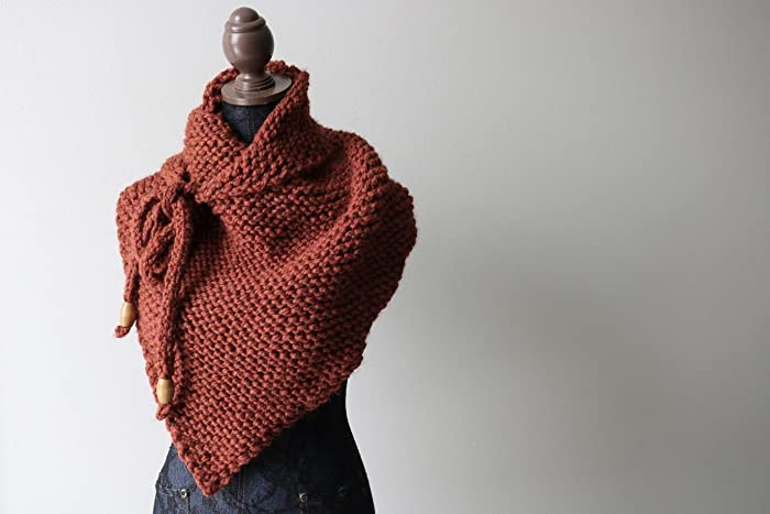 Amazon Knitted Knit Triangle Scarf Bandanna Scarf Shoulder