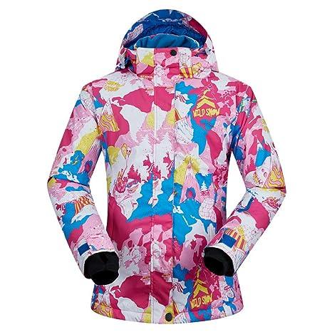 Zjsjacket Traje de Esqui Invierno frío -30 Grados Mujeres esquí Snowboard Chaquetas al Aire Libre