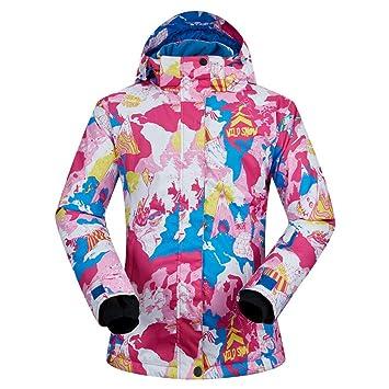Zjsjacket Traje de Esqui Invierno frío -30 Grados Mujeres esquí Snowboard Chaquetas al Aire Libre esquí de Nieve Abrigos Senderismo Chaqueta Que acampa: ...