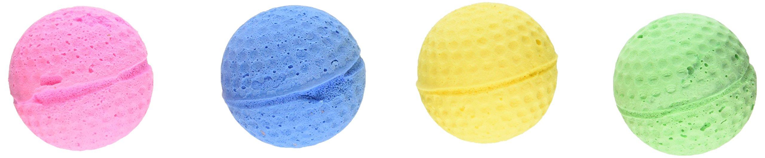 "Coastal Pet 1.5"" Sponge Ball Cat Toy Multi-Colors, 4-Count per Pack (1-Pack)"