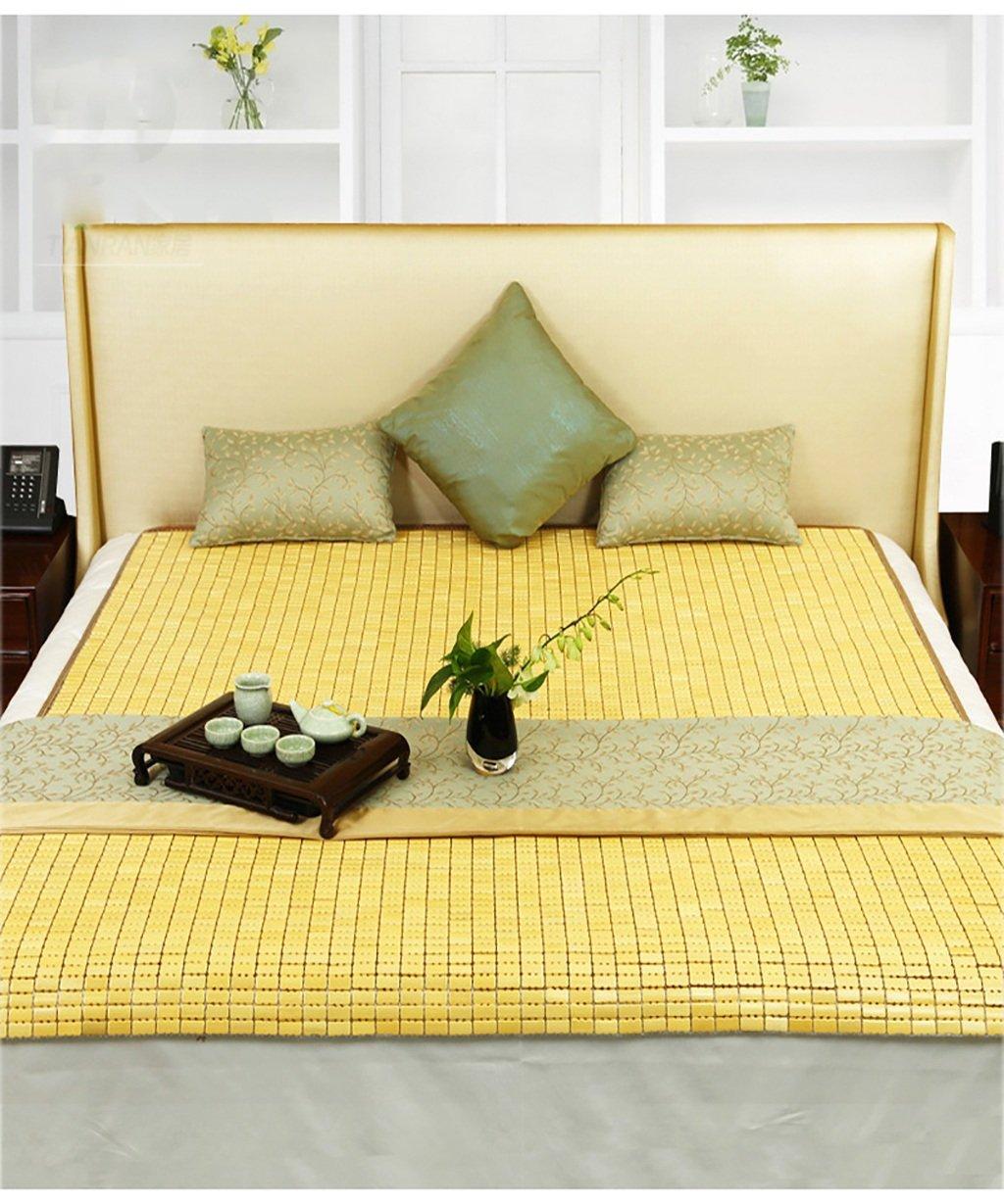 WENZHE Matratzen Strohmatte Teppiche Bambus Sommer Schlafmatten Haushalt Atmungsaktiv Faltbar Matten (größe : 80  190cm)
