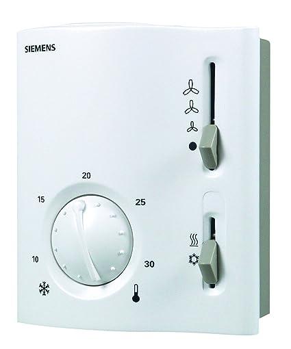 Siemens; RAB11 Termoestato ambiente para fancoil; 2 tubos con selector calor/frío