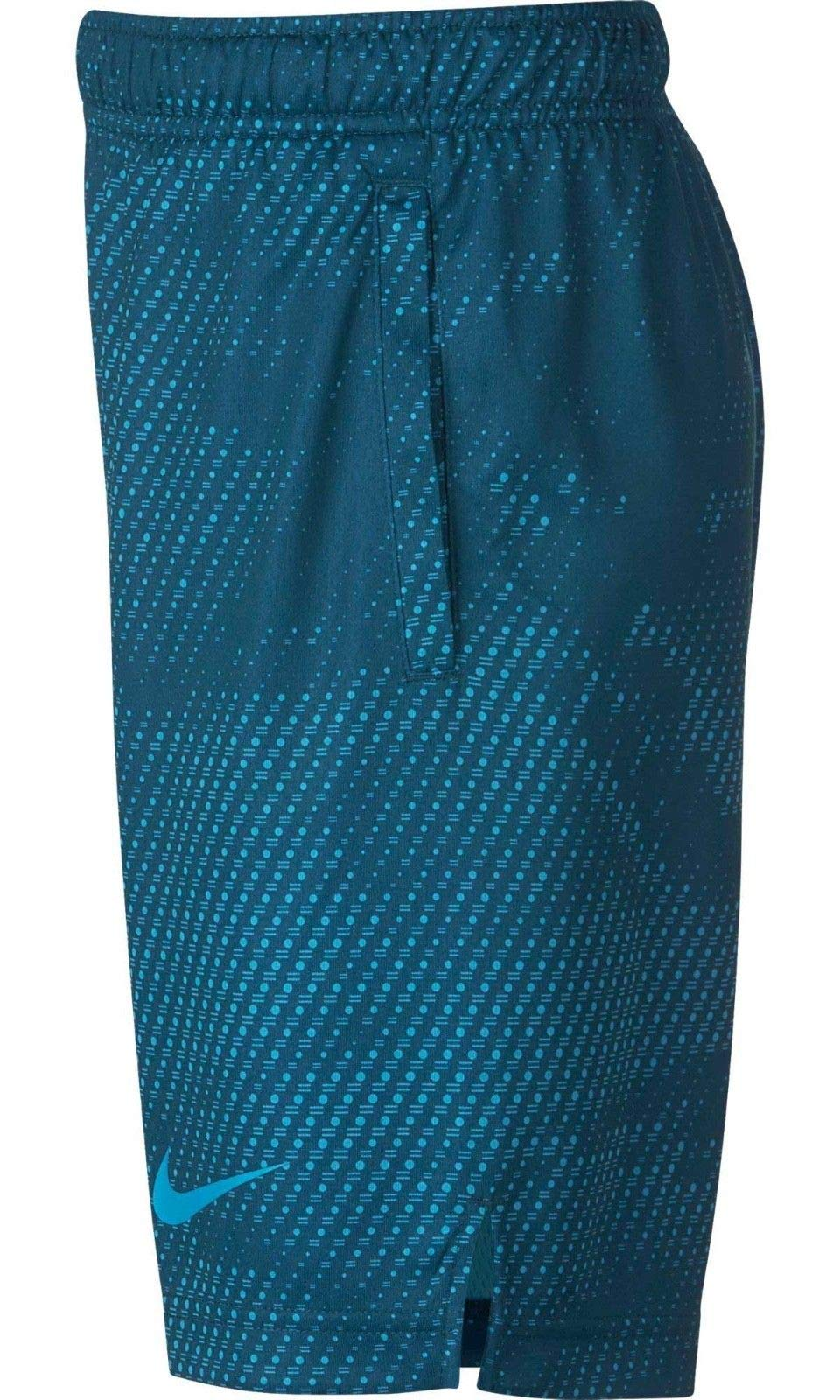 NIKE Boy's Dry Printed Fly Training Shorts (Blue Force, Small) by Nike (Image #3)