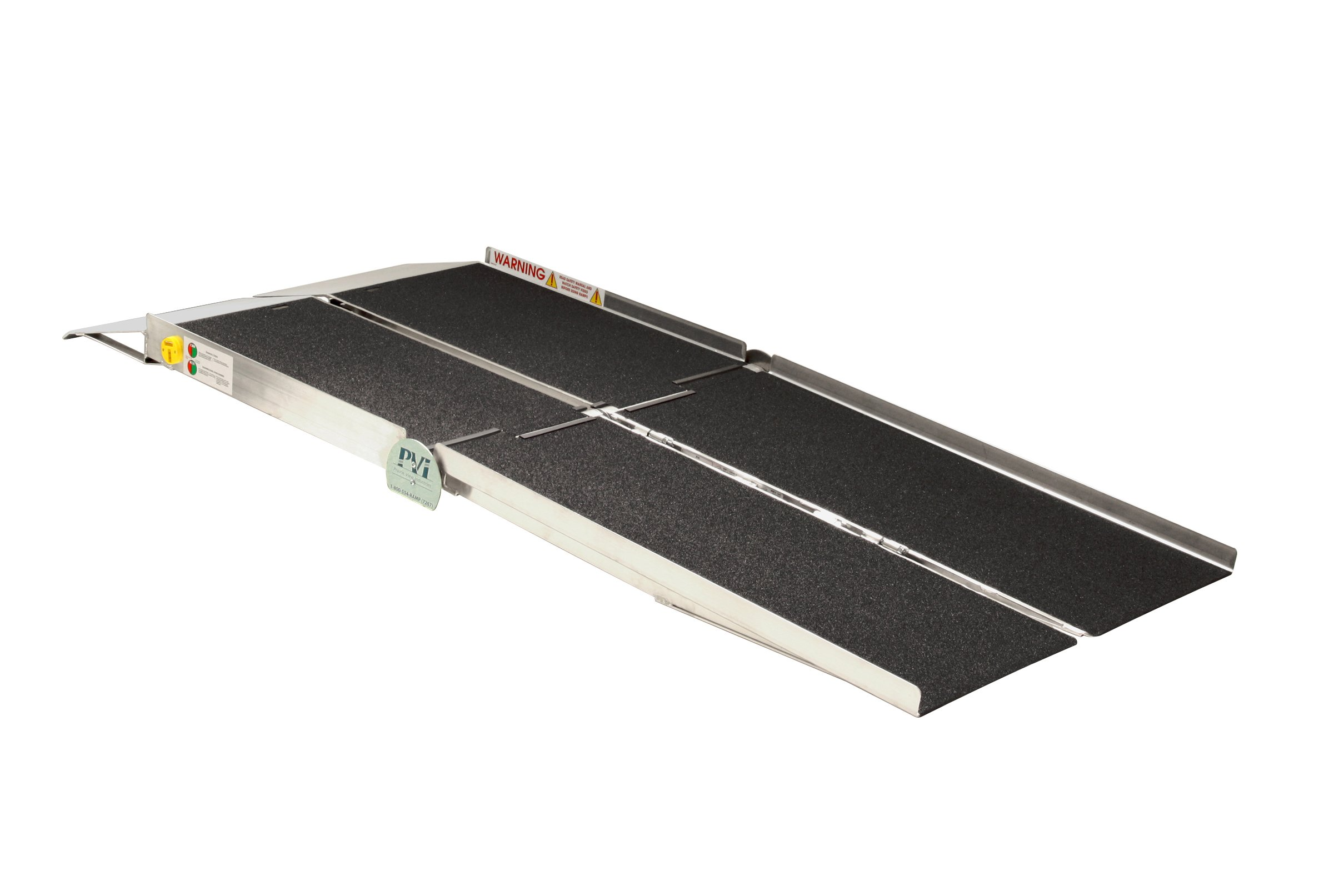 Prairie View Industries UTW1030 Portable Multi-fold Ramp with Extended Lip, 10 ft x 30 in