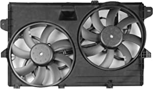 MYSMOT Dual Radiator Cooling Fan Assembly For Ford Edge 2007-2015 / Lincoln MKX 2007-2015 7T4Z8C607A